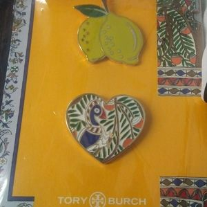 NEW! Tory Burch Limited Edition Lapel Pins